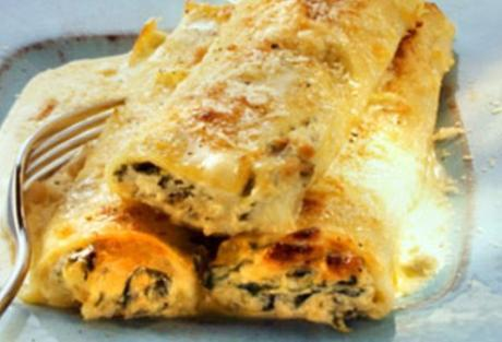 Manicotti with Swiss Cheese