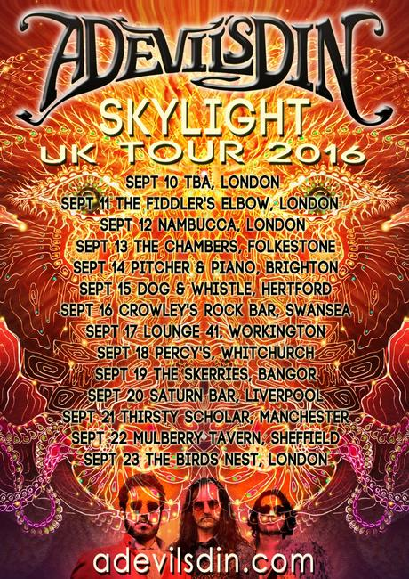 Canadian Psychedelic Rock A DEVIL'S DIN Announce UK Tour; New Album 'Skylight' Out Now!