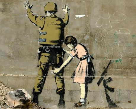 Soldier patdown by Banksy