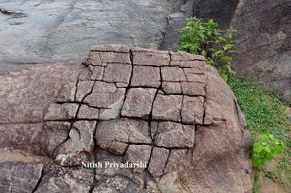 Differential weathering of  rocks near Ranchi city, India.