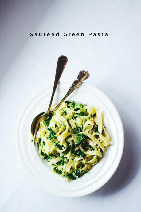 Sautéed Green Pasta + Video Tutorial! (Vegetarian) (Healthy, Delicious, Lazy Lunch)