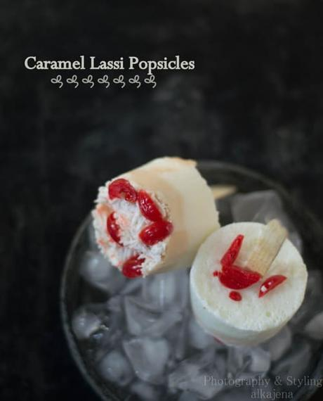 Caramel Lassi Popsicles: Celebrating 2 years of  Journey