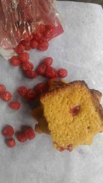 Blondies with White Chocolate and Sour Cherries