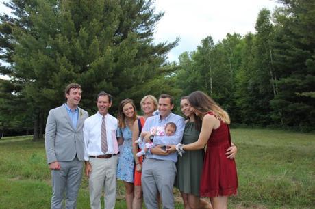 Family photo at family wedding