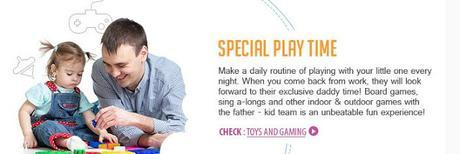 9 Ways To Be A Great Father While Handling Kids #FirstCry  : Speical play time and bonding time