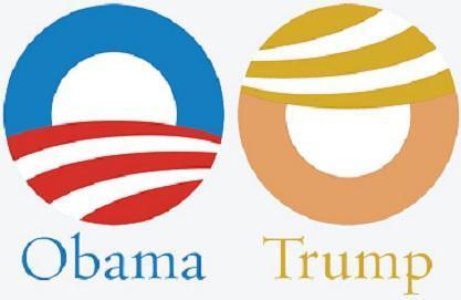 Trump Anti-Obama logo