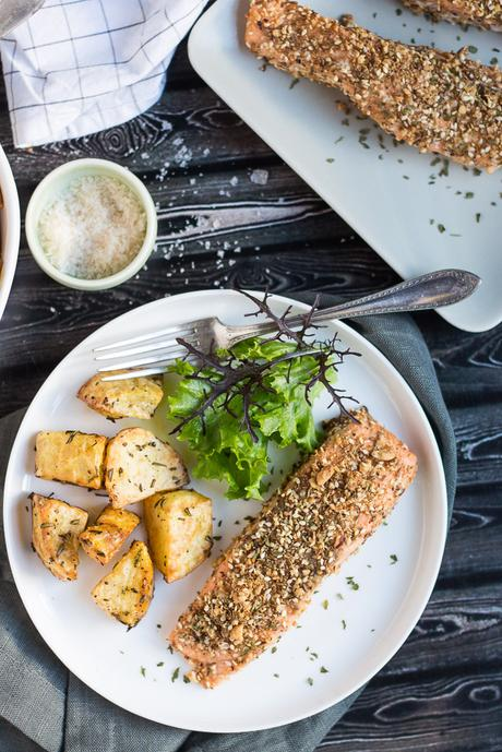 Dukkah-Crusted Baked Salmon Fillets