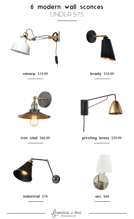 6 Modern Wall Sconces Under $75 + A Tiny Announcement