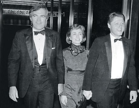 L to r: Vince Foster, Hillary Clinton, Bill Clinton