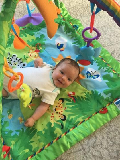 Emerson On The Playmat