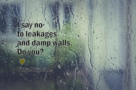 I say no to leakages and damp walls. Do you?