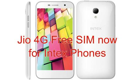 Know if your Intex Smartphone is eligible for Jio 4G Free SIM???