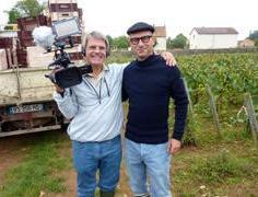 Producer/Director/Videographer Rudi Goldman with wine filming consultant Fabrice Magniez. ©RudiGoldman. All Rights Reserved.