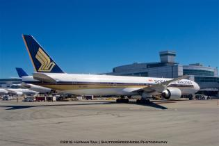 SFO, airport, airliner, 9V-SWP , Boeing 777-312(ER),  Singapore Airlines