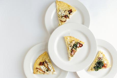Cauliflower Crust Pizza (Gluten Free) // www.WithTheGrains.com
