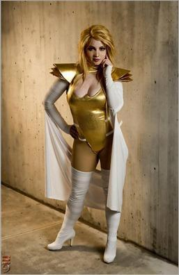 Elena Blueskies Cosplay as Phoenix Force Emma Frost (Photo by M9 Cosplay Photography)