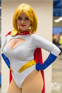 Elena Blueskies Cosplay as Power Girl (Photo by Flux_form)