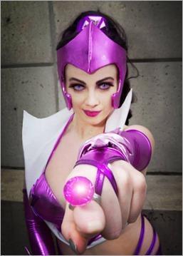 Elena Blueskies Cosplay as Star Sapphire (Photo by Eddie B Photos)