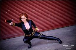 Elena Blueskies Cosplay as Black Widow (Photo by Jason Laboy Photography)