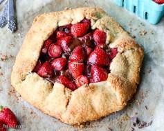 Chocolate Strawberry Galette (Gluten Free + Paleo)