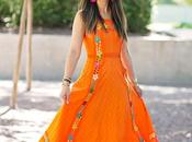 Vintage Orange Maxi Dress