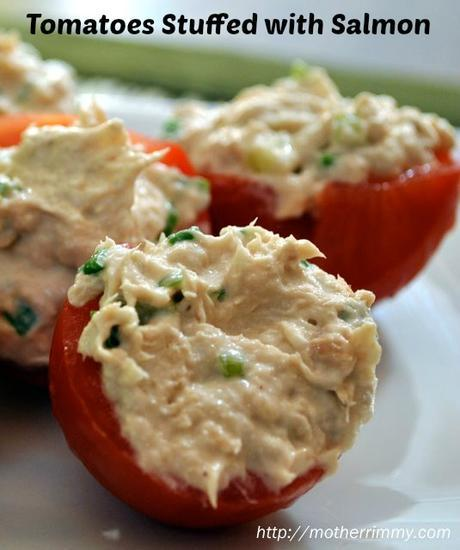 Healthy Holiday Appetizer – Tomatoes Stuffed with Chicken and Goat Cheese