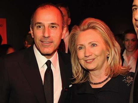 Matt Lauer & Hillary Clinton, April 24, 2012 (Photo by Larry Busacca/Getty Images)
