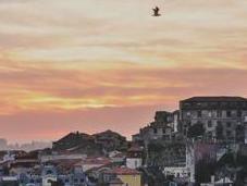 Foggy Sunset Over Porto