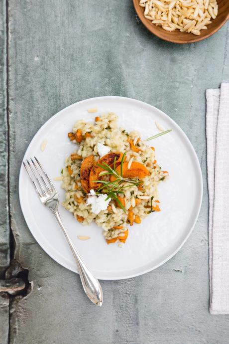Risotto with Rosemary Infused Chanterelles, Apricots and Goat Cheese ...