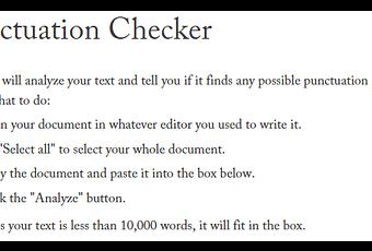 Best Free Online Punctuation Checker Tools | Correctors 2017-18