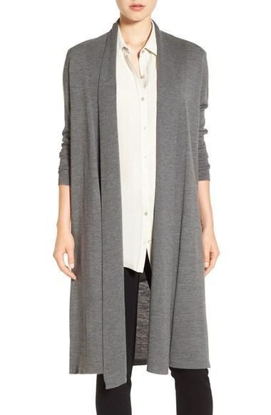 washable wool crepe cardigan