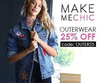Outerwear Sale! Save 25% on Outerwear with couponcode Outer25 at MakeMeChic.com. Sale ends September 19th