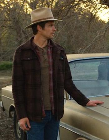 Timothy Olyphant as Deputy U.S. Marshal Raylan Givens on Justified (Episode 2.13: