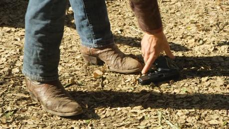 One of the best looks we get at Raylan's iconic ostrich leg boots.
