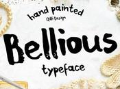 Download Bellious Hand Drawn Typeface Font Free