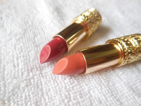 Oriflame Giordani Gold Jewel Lipstick Cerise Pink, Dusky Nude // Review, Swatches