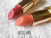 Oriflame Giordani Gold Jewel Lipstick Cerise Pink, Dusky Nude Review, Swatches