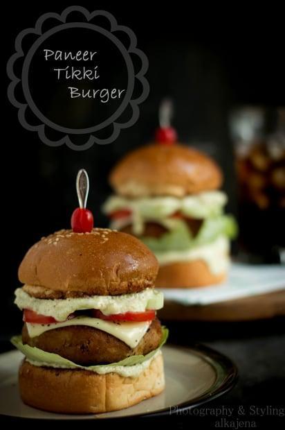 Paneer Tikki Burger