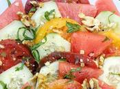 Late Summer Salads with Peaches Watermelon