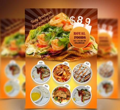 Download Restaurant Food Menu Flyer Template PSD Free
