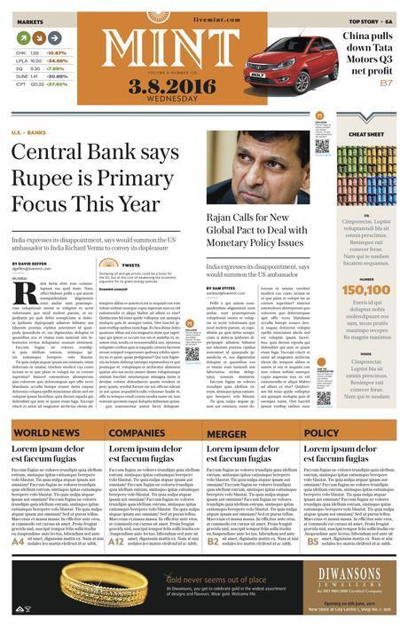 India's Mint goes broadsheet