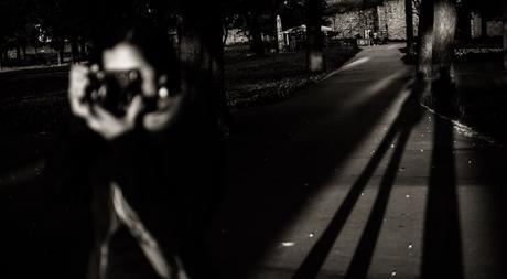 Long shadows at the fortress.