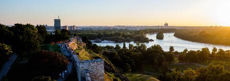 The view from the tower at Belgrade Fortress shows the incredible location of Beograd with the Sava and Danube rivers.