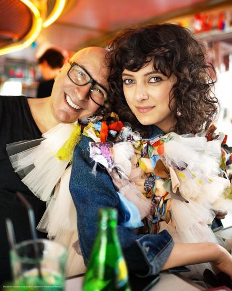 Sarah Engelland and Benjamin Kanarek backstage © Frédérique Renaut