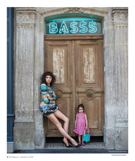 Sarah Engelland in Schiaparelli Haute Couture and Miss Macheto © Benjamin Kanarek
