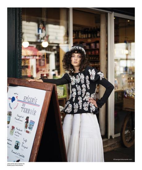 Sarah Engelland in Christian Dior Haute Couture © Benjamin Kanarek