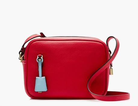 red leather camera crossbody bag