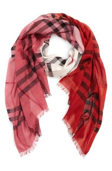 Burberry wool and silk check scarf