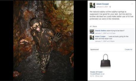 Adam Cooper - black lives matter campaigner grab taken from open facebook page https://www.facebook.com/adam.cooper.3154284/photos?pnref=lhc