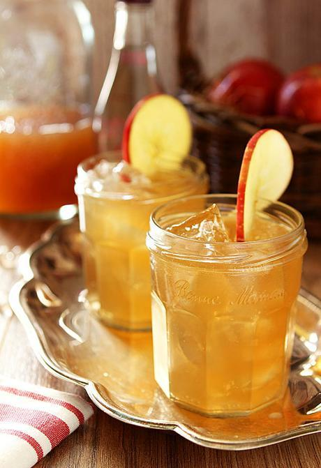 Bourbon and Apple Cider Cocktail